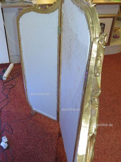 spiegel 3 teiliger fl gelspiegel geschnitzt 18 jhd aus adeligem nachlass. Black Bedroom Furniture Sets. Home Design Ideas